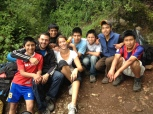 Hiking with the Hogar boys